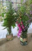 Hedgerow flowers on the tables