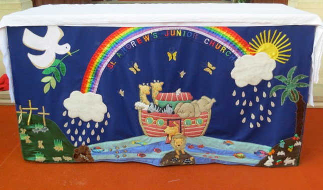 The altar cloth at St Andrew's Church