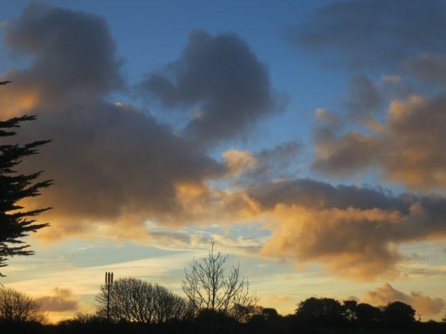 Beautiful dawn sky