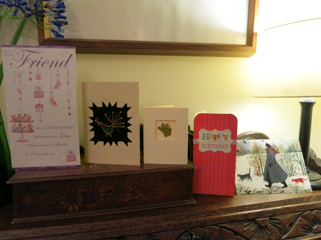Some of my lovely birthday cards