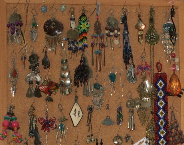 Some of my collection of earrings