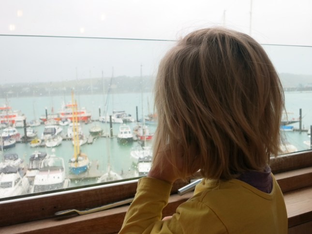 Watching the boats in the marina