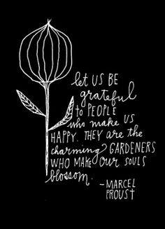 Marcel Proust's beautiful thoughts