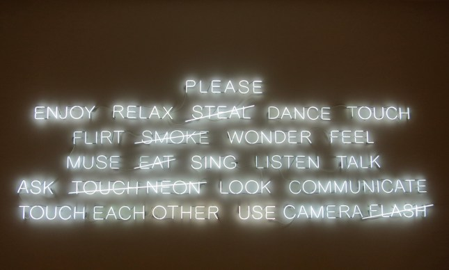 Neon art by Jeppe Hein