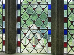The Lych gate through the glass