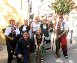 Me with the elders in their Catalonian costume