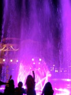 Nighttime fountain in L.A.