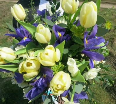 L's bouquet in my favourite colours
