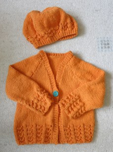 Cardigan and beret for the Littlest Live-wire