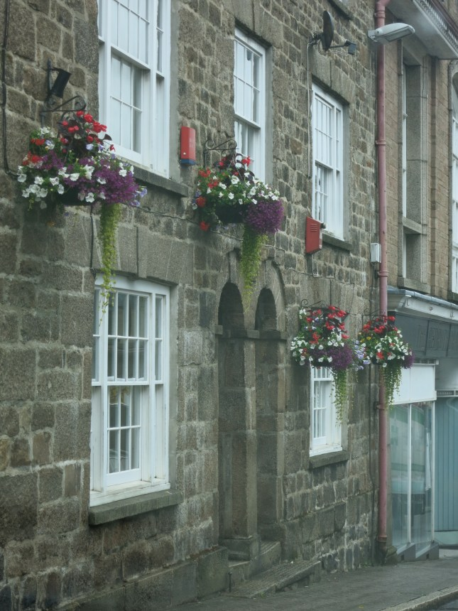 Just a few of the beautifully full and colourful baskets in Redruth