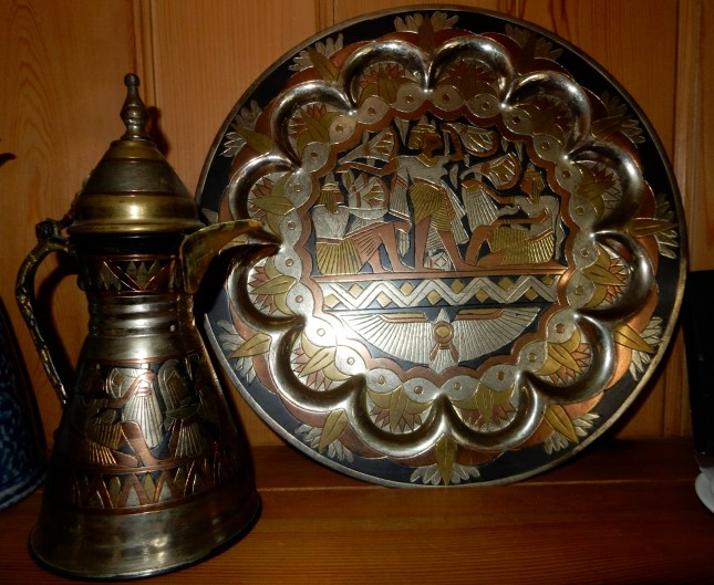 Tray and coffee pot from Egypt