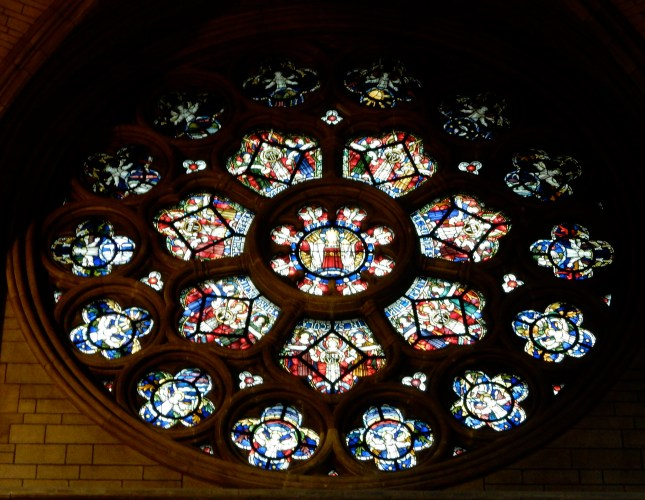 The Rose window in Truro Cathedral