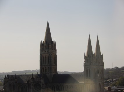 Passing Truro Cathedral