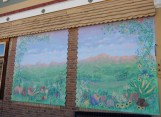 Mural on the Health food shop
