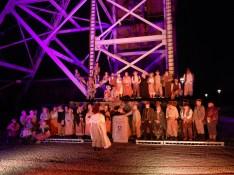 The choir and the cast