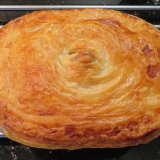 Golden pastry crust