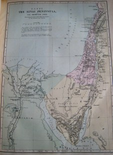 'Egypt, The Sinai Peninsular and The Promised Land' - Map from 1885