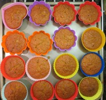 Baked Carrot Cup-cakes