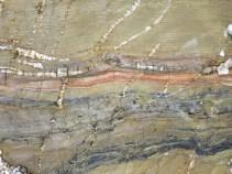Beautiful striata in the rocks