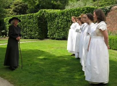 Mrs Barnicoat, the Housekeeper, speaking to the laundry girls