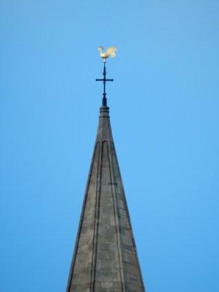 The cockerel on top