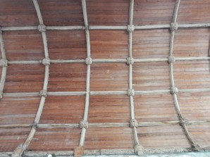The beautiful wagon roof with carved bosses and angels
