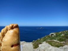 Cornish pasty by the sea