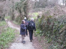 Walking and talking in a Cornish lane