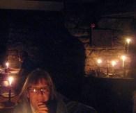 At Carn Brea Castle for dinner
