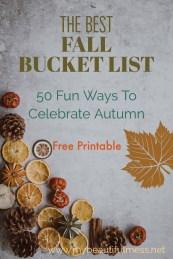 the best fall bucket list