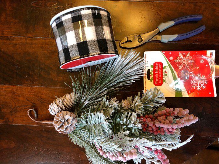 DIY Christmas swag supplies