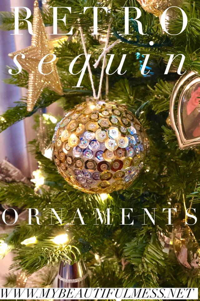 diy retro sequin ornament christmas craft handmade ornament
