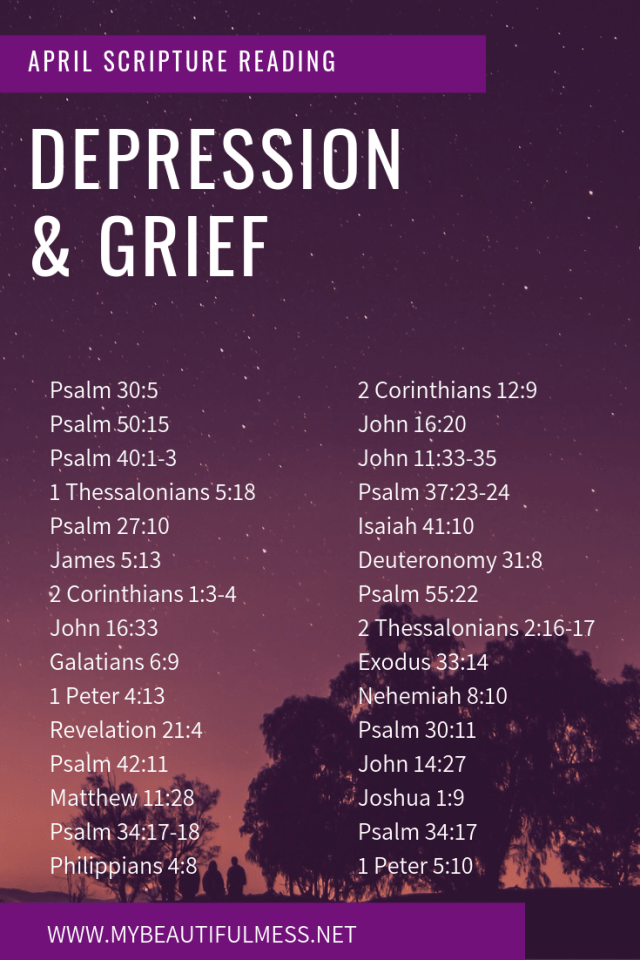 SCRIPTURE READING: depression and grief