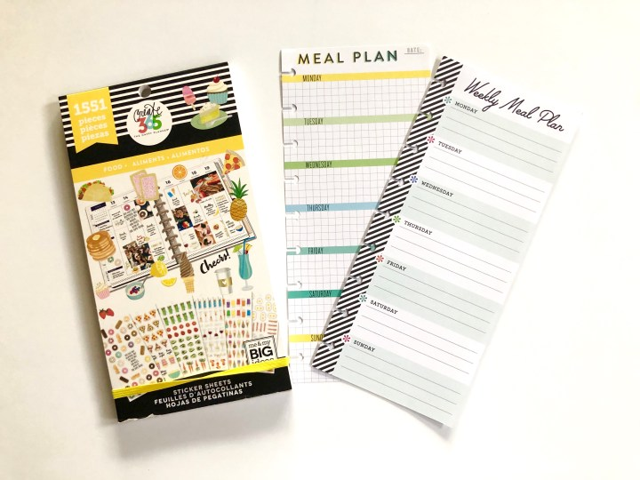 ways to menu plan with happy planner