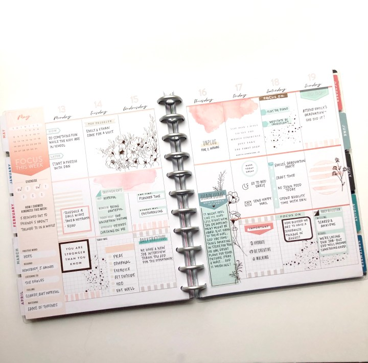 Weekly Planner Stickers Self Care Happy Planner Classic Dashboard Layout Spa Day