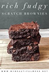 Rich fudgy scratch brownies