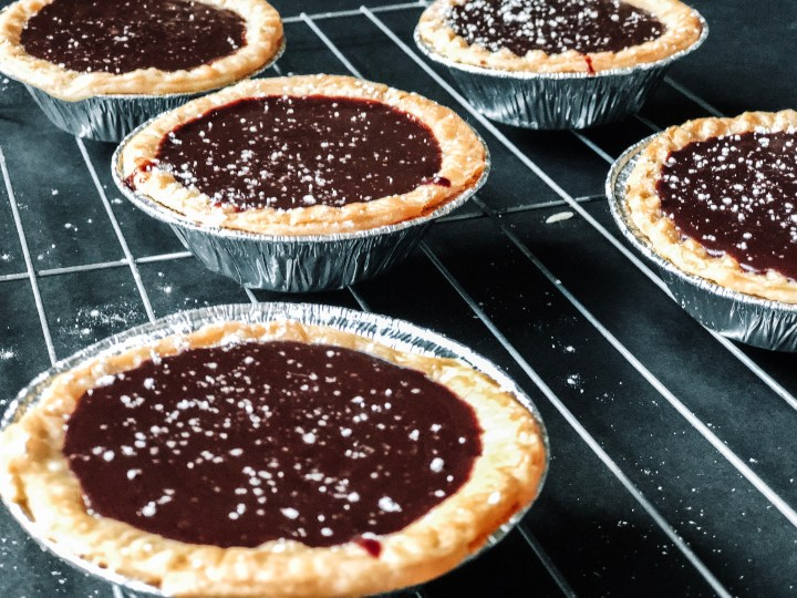 mini chocolate fudge tarts