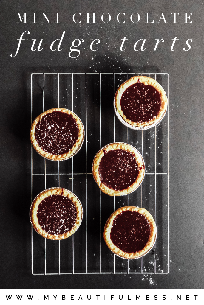 mini fudge chocolate tarts