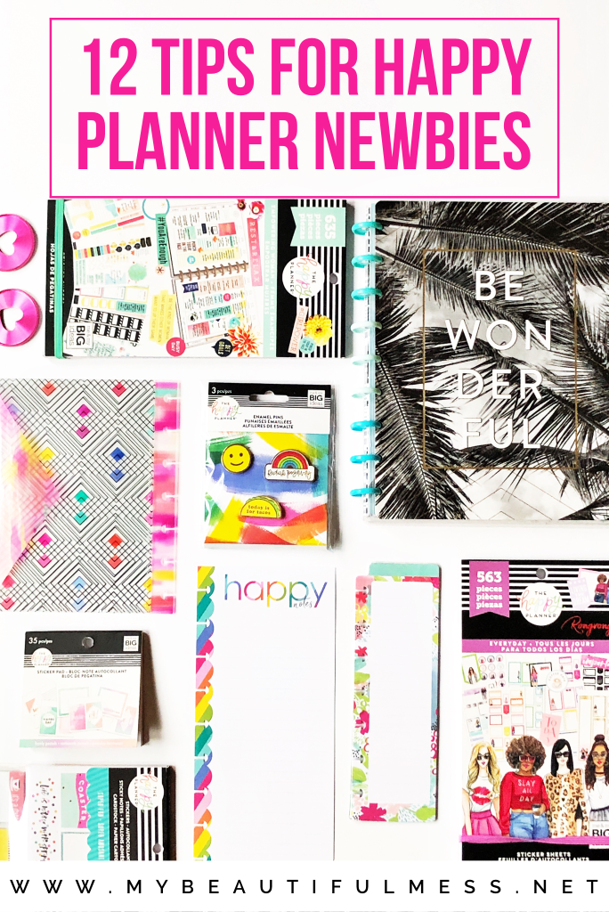 12 Tips for happy planner newbies