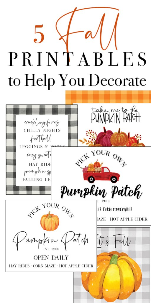 5 fall printables to help you decorate
