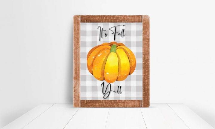 It's Fall Y'all Printable