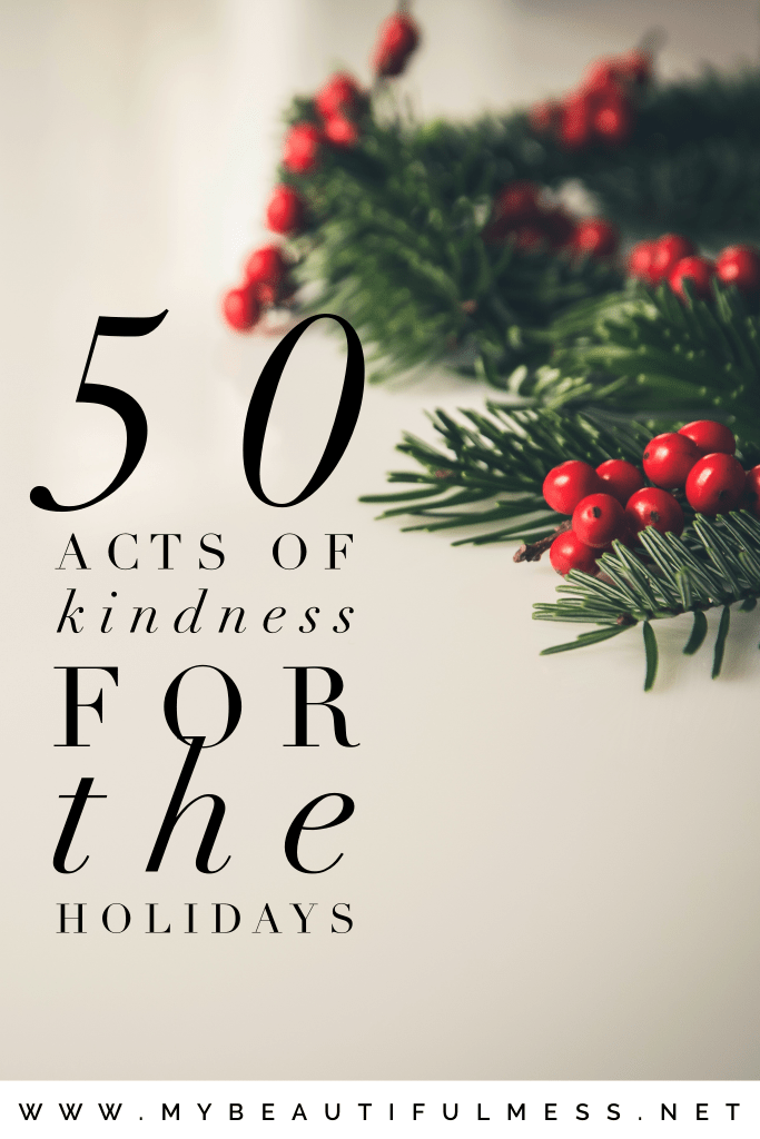 50 Acts of Kindness for the Holidays