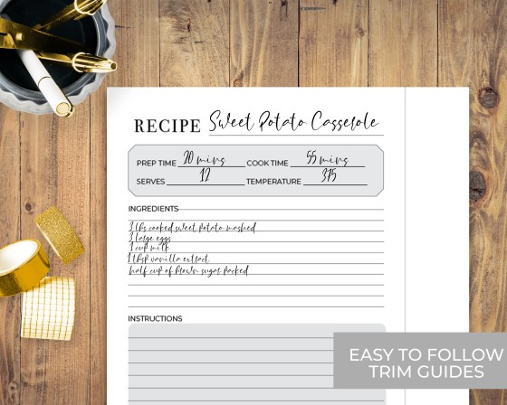 Happy Planner Classic Sized Recipe Inserts
