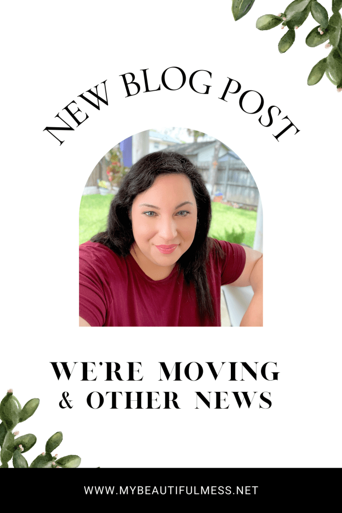 we're moving and other news