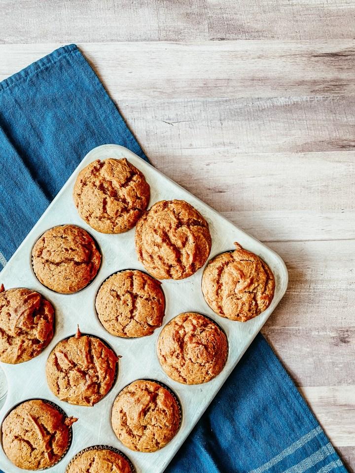 Scratch pumpkin spice muffins