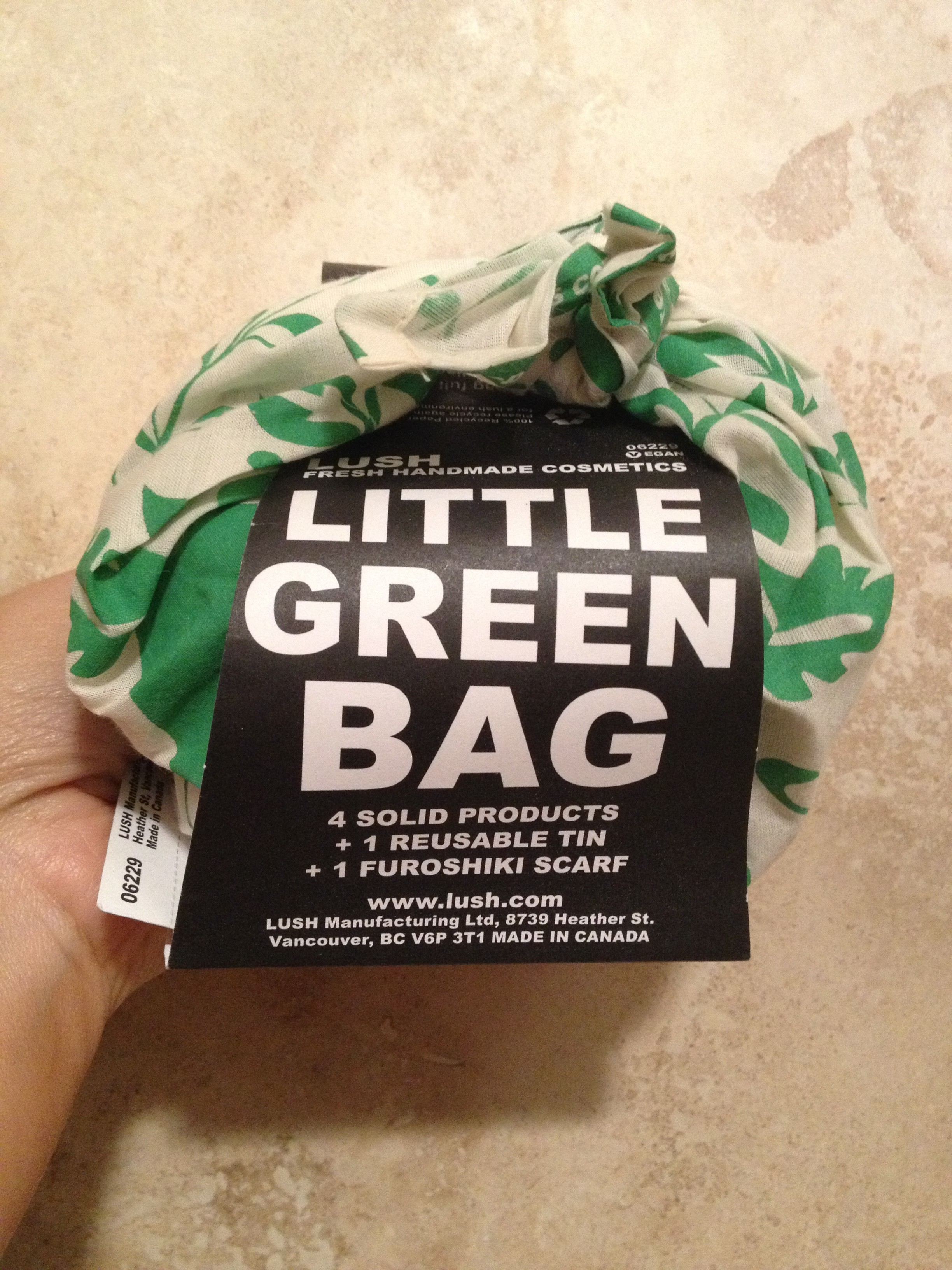 LUSH Little Green Bag