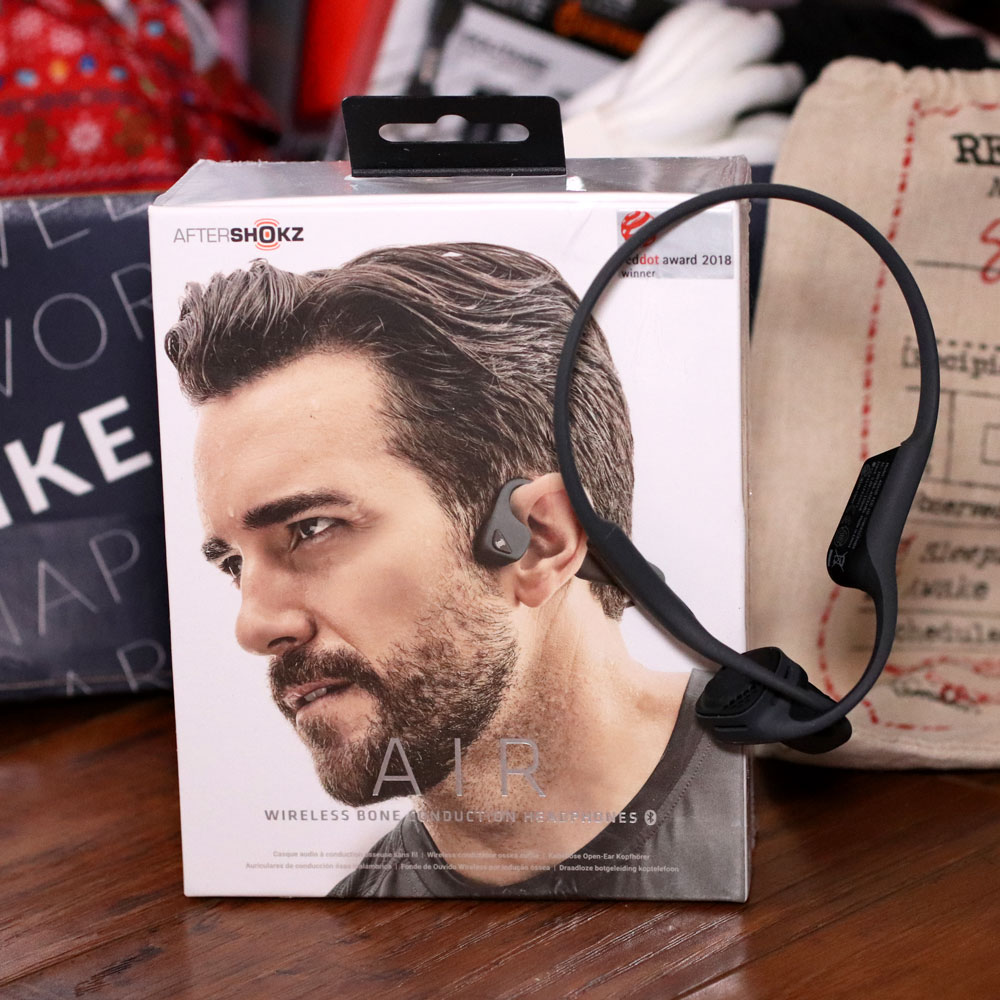 Holiday Gift Guide for the Whole Family 2019 - Aftershokz wireless bone conduction headphones