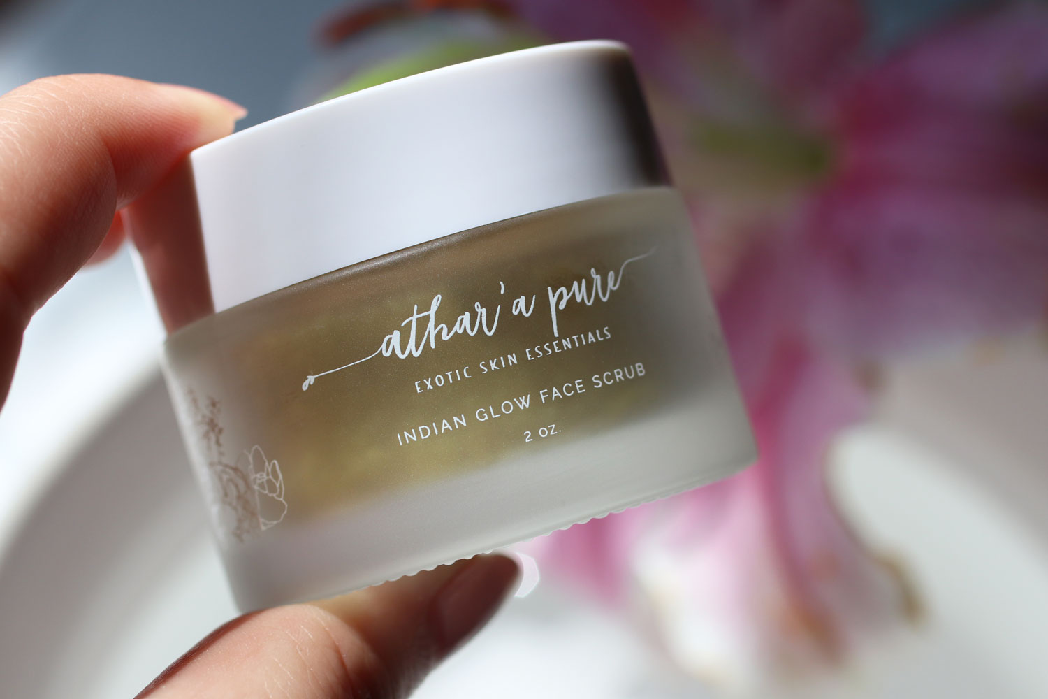 Athar'a Pure Indian Glow Face Scrub with turmeric and neem