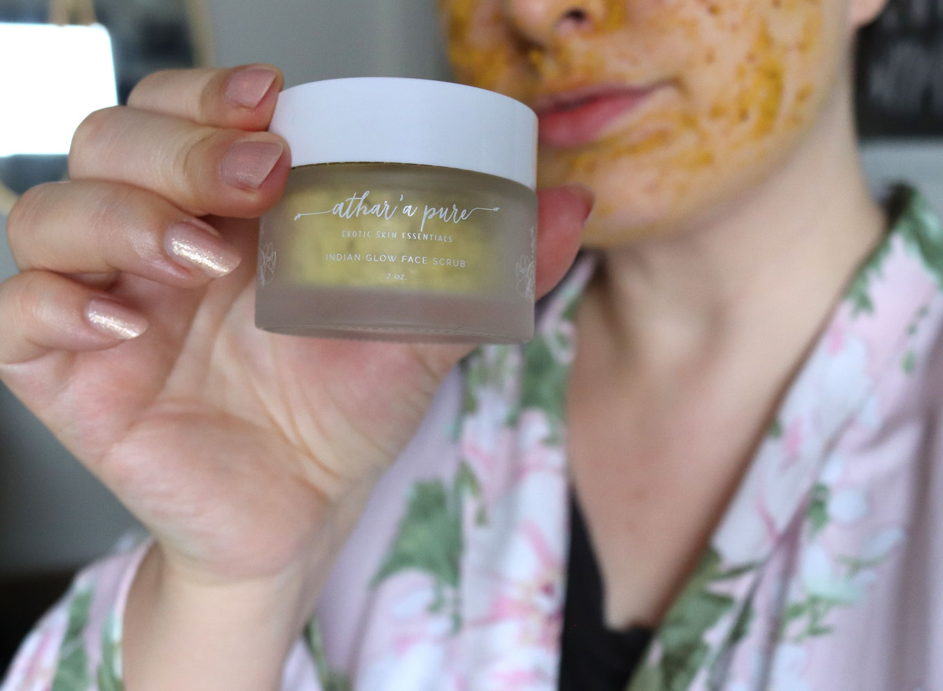 Smooth Skin with Athar'a Pure Indian Glow Face Scrub