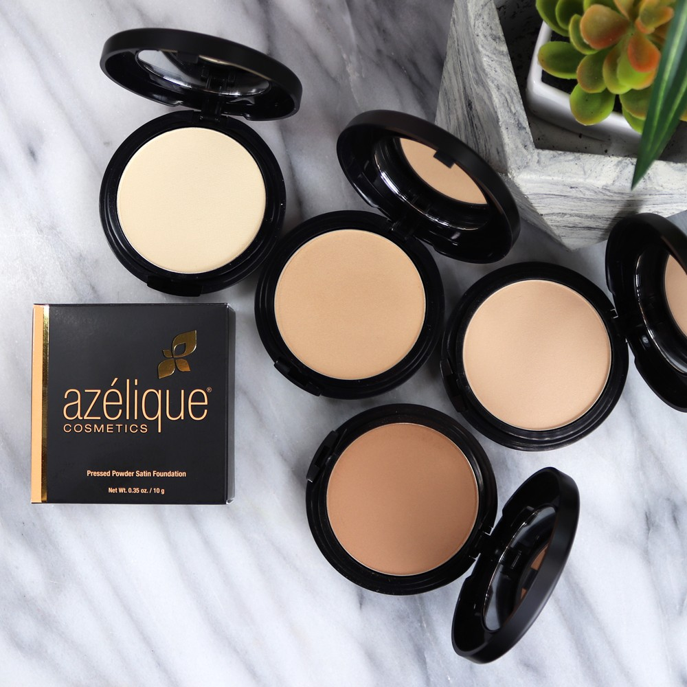 Azelique Cosmetics Powder Foundation Review - Review of Azelique Cosmetics by Los Angeles cruelty free beauty blogger My Beauty Bunny